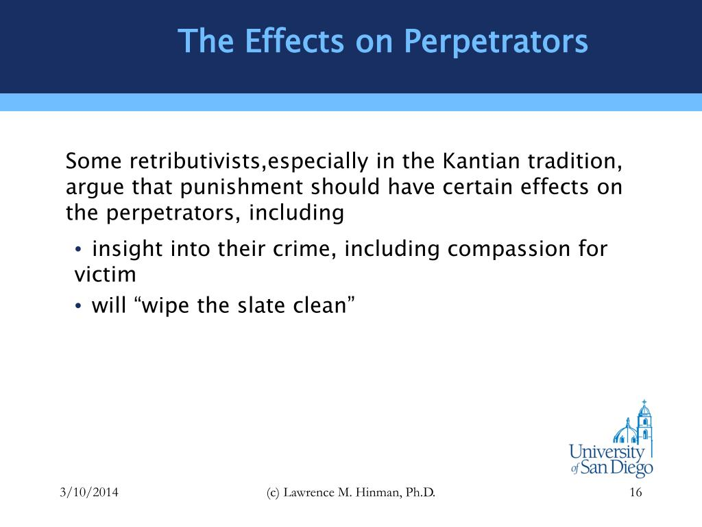 The Effects on Perpetrators