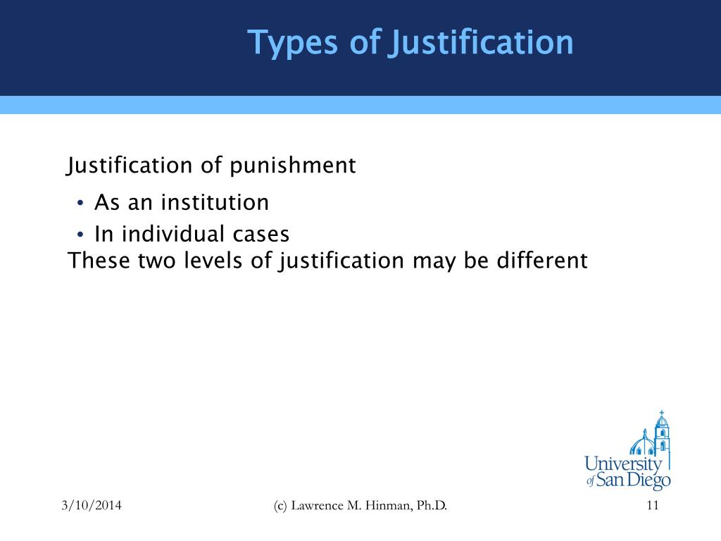 Types of Justification