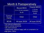 month 6 postoperatively