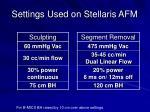settings used on stellaris afm