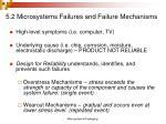 5 2 microsystems failures and failure mechanisms
