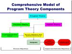 comprehensive model of program theory components