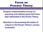 focus on process theory