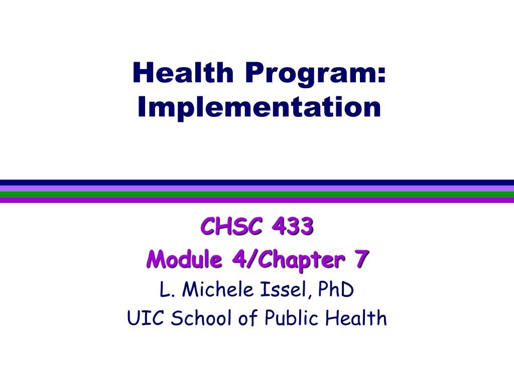 health program implementation l.