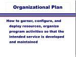 organizational plan