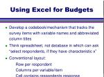 using excel for budgets