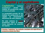 capital y el capitalismo