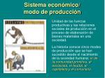 sistema econ mico modo de producci n