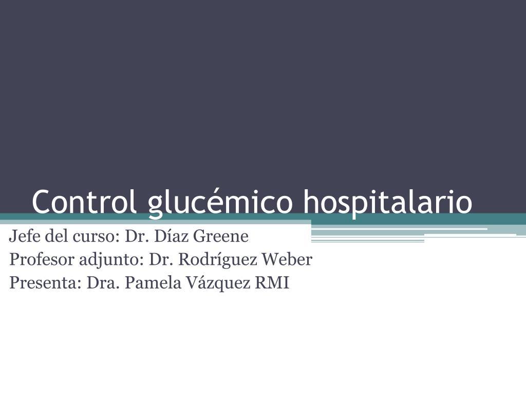 control gluc mico hospitalario l.