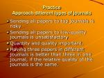 practice approach different types of journals
