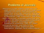 problems of journals