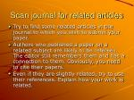 scan journal for related articles