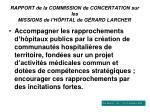 rapport de la commission de concertation sur les missions de l h pital de g rard larcher