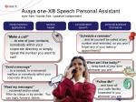 avaya one x speech personal assistant eyes free hands free speaker independent