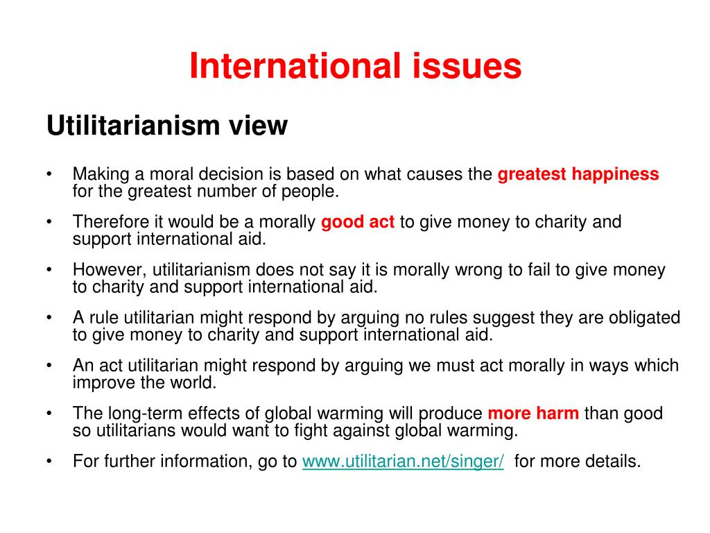 International issues
