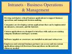 intranets business operations management