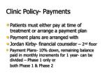 clinic policy payments