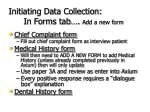 initiating data collection in forms tab add a new form