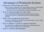 advantages of production systems
