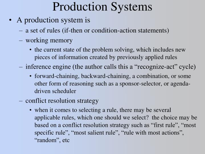 production systems n.