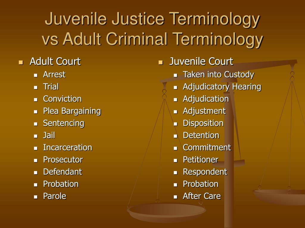 adult vs juvinile probation
