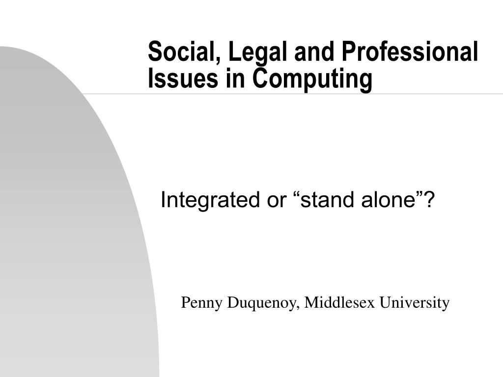 social legal and professional issues in computing l.