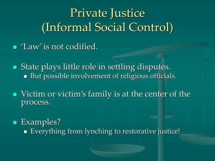 Private justice informal social control