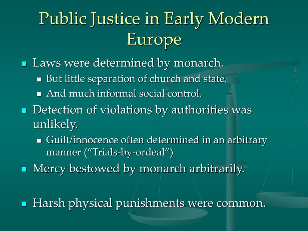 Public Justice in Early Modern Europe