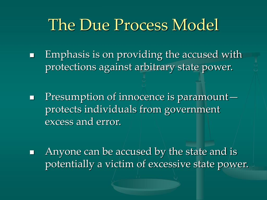 The Due Process Model