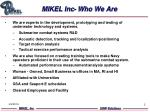 mikel inc who we are