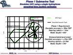 phase 1 submarine test emulates uuv using a single hydrophone smoothed time position estimates