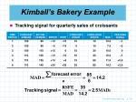 kimball s bakery example