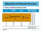 measures of forecast accuracy18