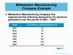 midwestern manufacturing company example