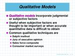 qualitative models