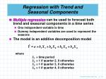 regression with trend and seasonal components