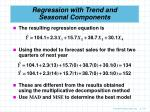 regression with trend and seasonal components75
