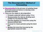 the decomposition method of forecasting