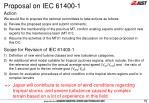 proposal on iec 61400 1