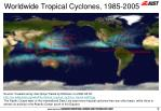 worldwide tropical cyclones 1985 2005
