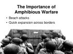 the importance of amphibious warfare