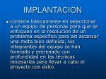 implantacion