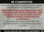 be competitive