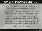 cwsf approval funding