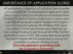 importance of application scores