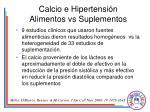 calcio e hipertensi n alimentos vs suplementos