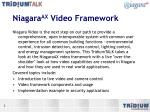 niagara ax video framework