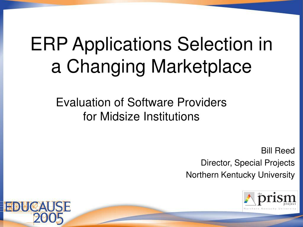erp applications selection in a changing marketplace l.