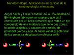 nanotecnolog a aplicaciones mec nicas de la nanotecnolog a el rotaxano