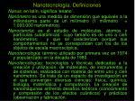 nanotecnolog a definiciones